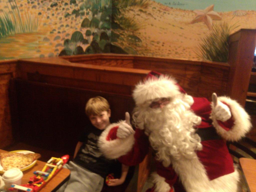 Santa gives 2 thumbs up