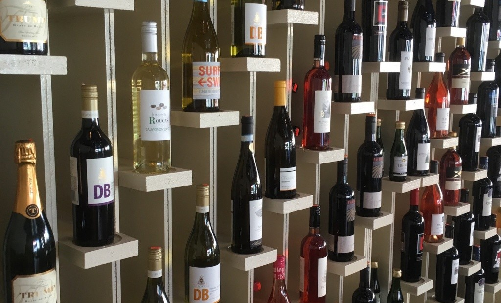 Wine Wall at Dough Boy's Pizza Virginia Beach Oceanfront