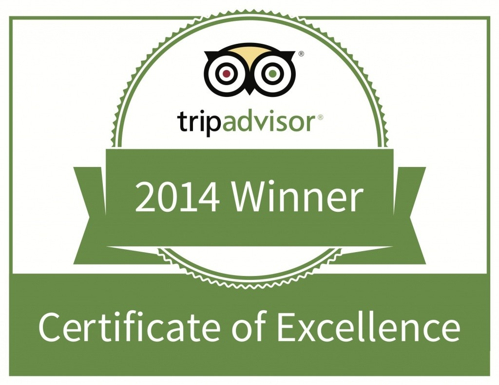 2014 TripAdvisor Certificate of Excellence awarded to Dough Boy's Pizza Virginia Beach Oceanfront