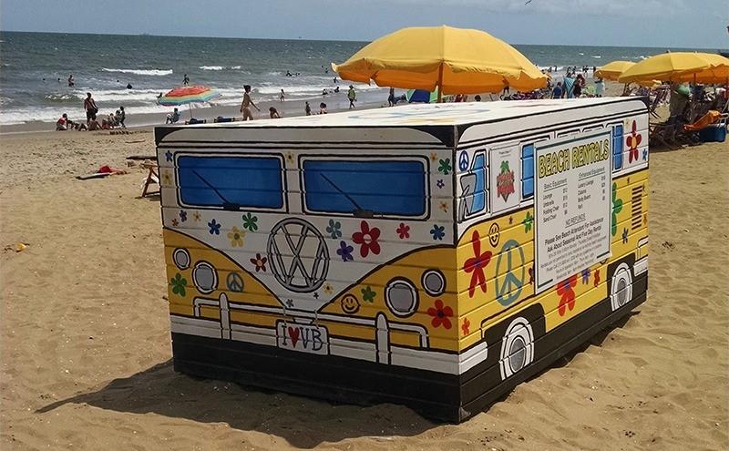 Beach rental vw wagon - 33rd street container - Dough Boy's Pizza Virginia Beach Oceanfront