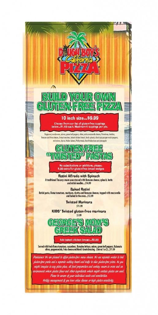 gluten free oceanfront menu