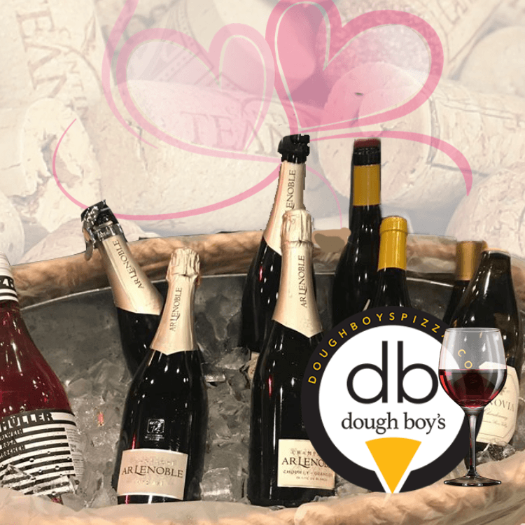 February wine tasting at Dough Boy's Virginia Beach Oceanfront