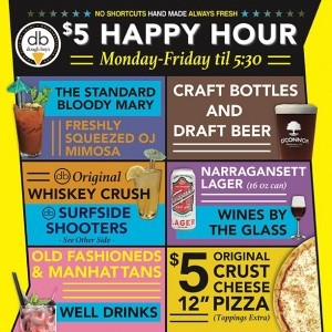 doughboys happy hour menu