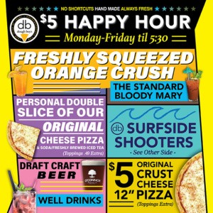 2021 happy hour menu